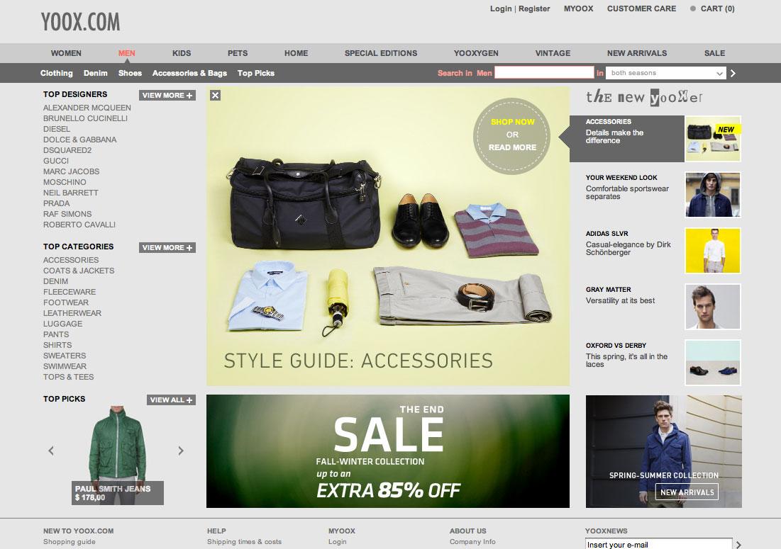 Yoox online shopping