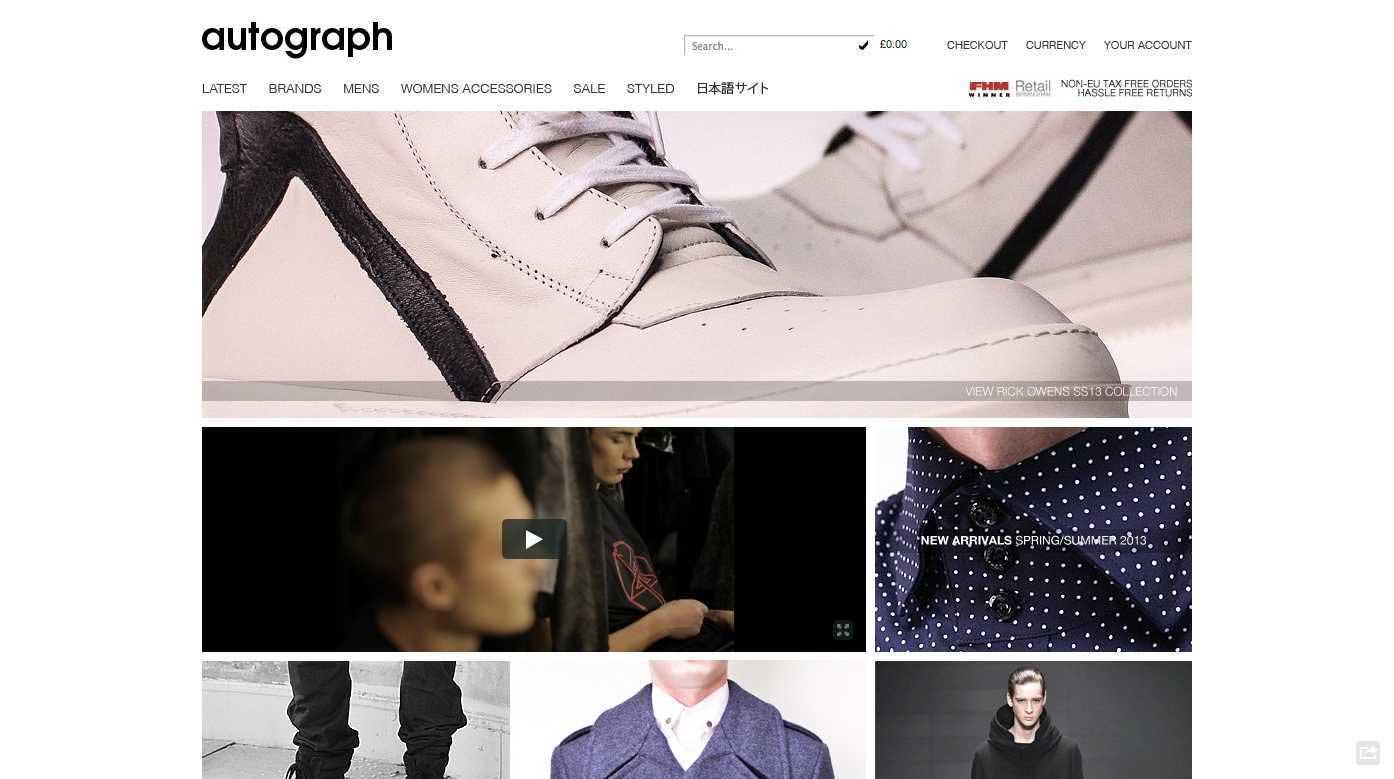 Autograph clothing online