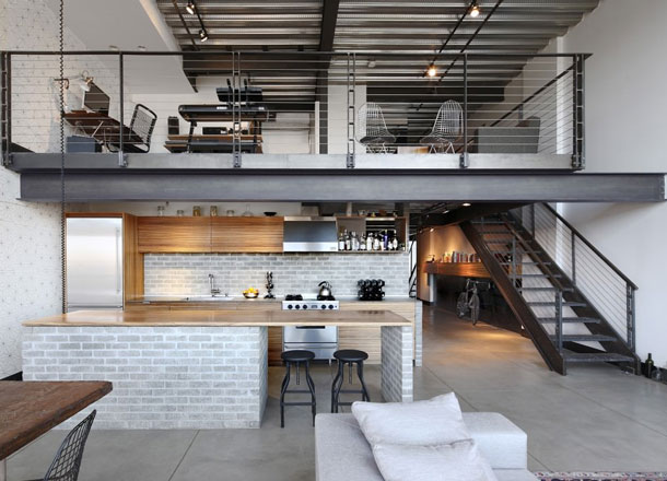 The Perfect Conversion: Seattle Industrial Man Loft