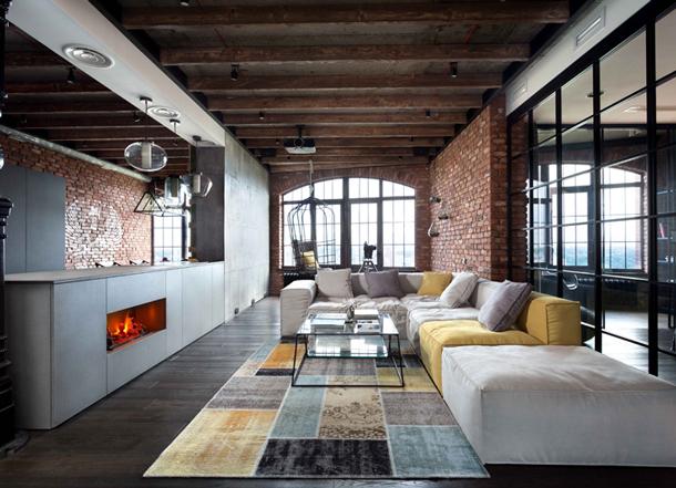 Modern Gentleman's Loft By Martin Architects