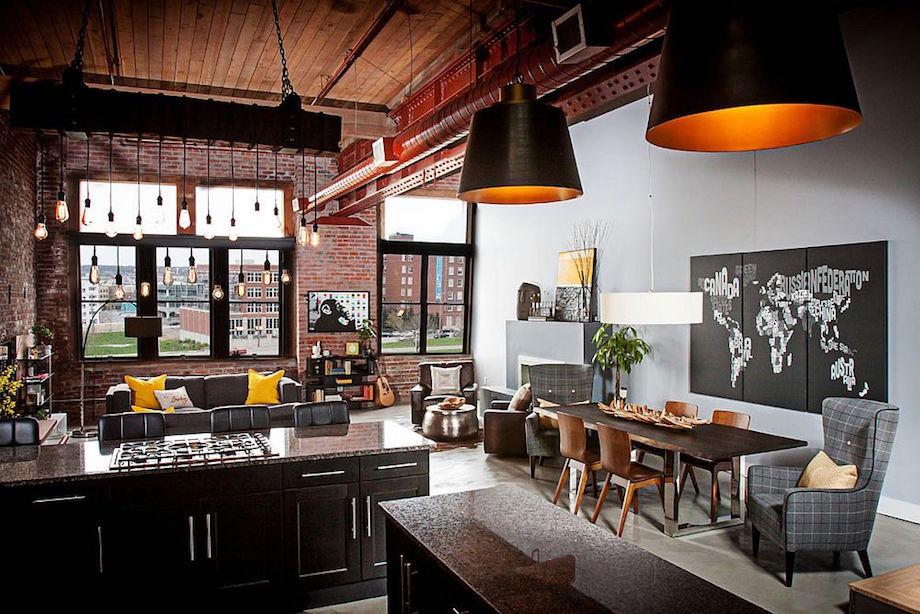 Elegant Urban Loft Embraces Texture amp Industrial Aesthetics