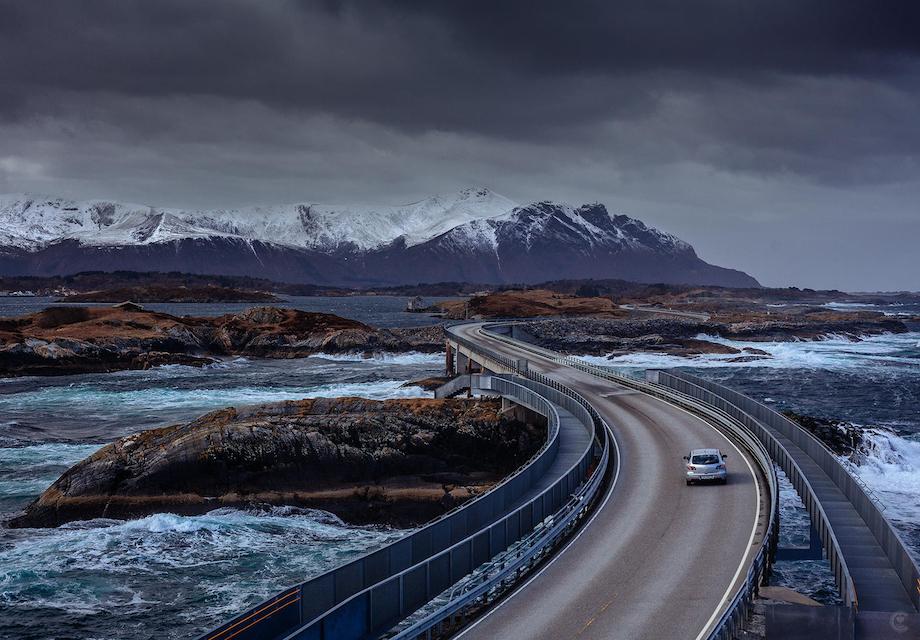 Death-Defying Driving On Norway's Atlantic Ocean Road