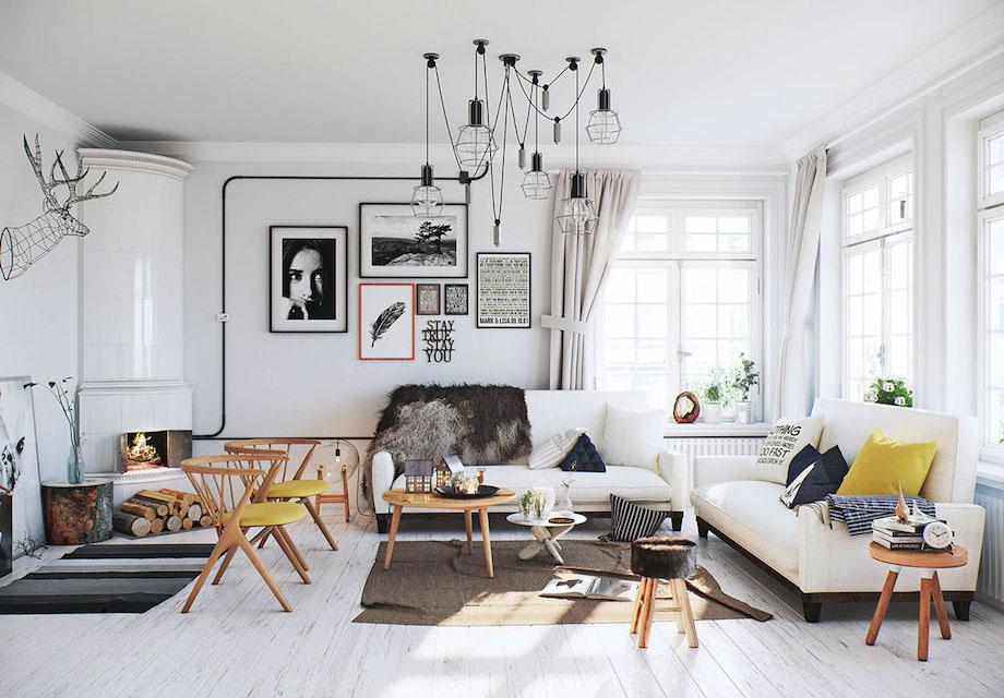 Cutaway Apartment Full Furnitures Modern Design: 27 Examples Of Serene Scandinavian Interior Design