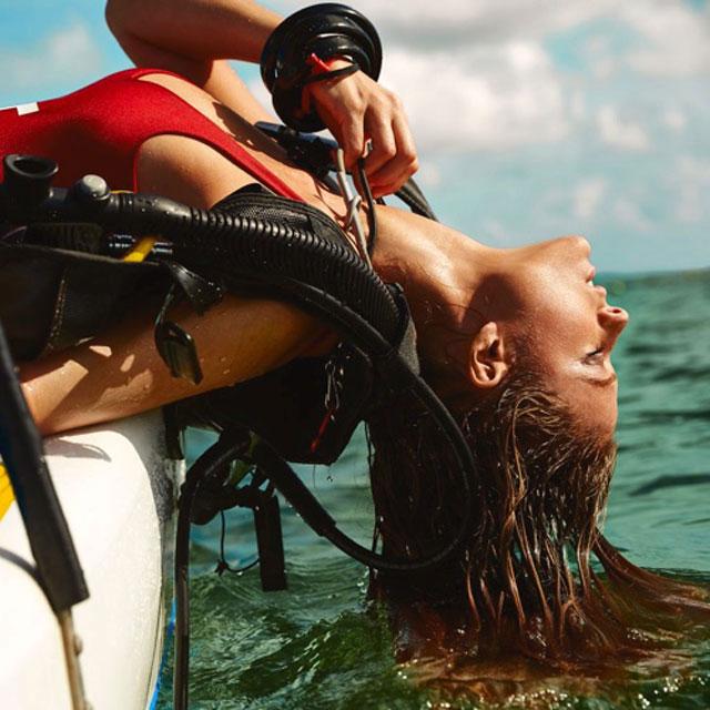 Kate Bock Goes Scuba Diving For Max Abadian