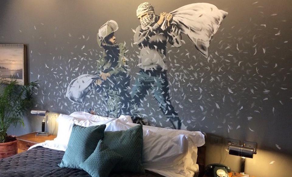 Banksy Opens The Dystopian 'Walled Off Hotel' In Bethlehem