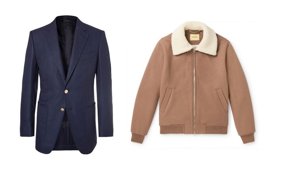 Blazers, bombers, trucker jackets all classify as smart casual.