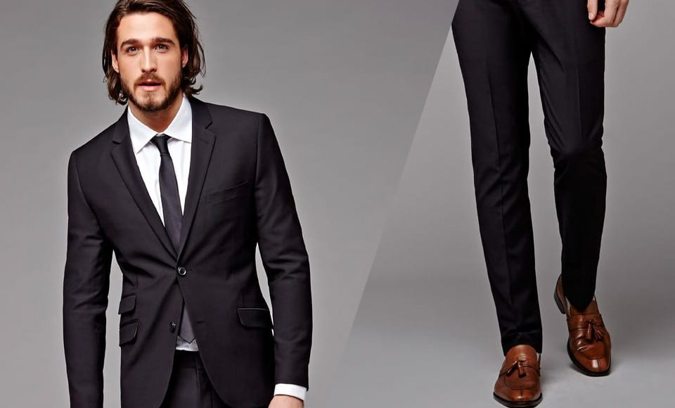 Wearing Brown Shoes With A Black Suit Or Jeans - Modern Men's Guide
