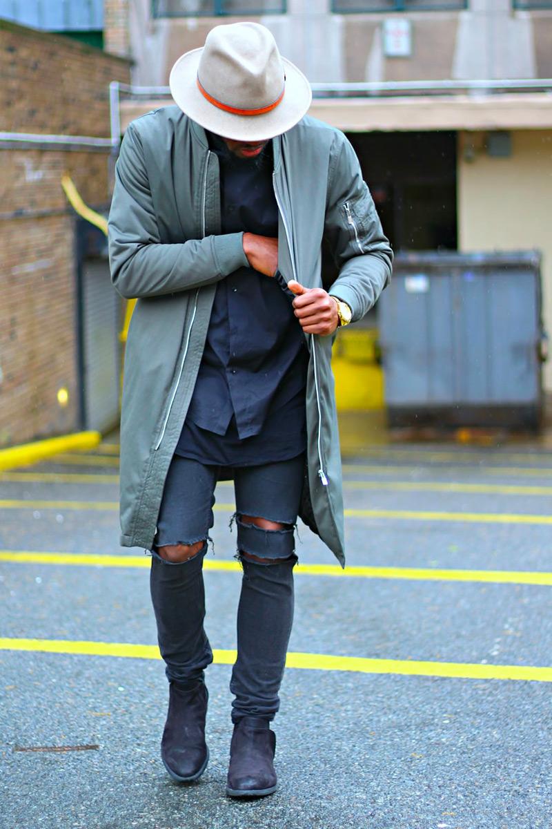 distressed jeans coat