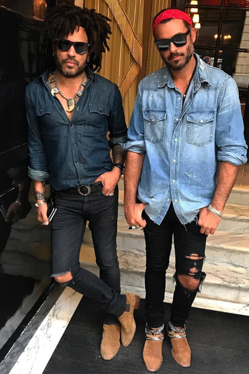 distressed jeans shirt