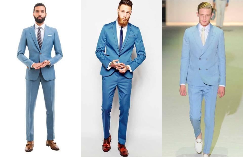 How To Wear A Light Blue Suit - Modern