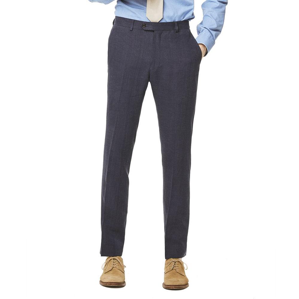 Todd Snyder White Label Linen Sutton Suit Trouser in Navy