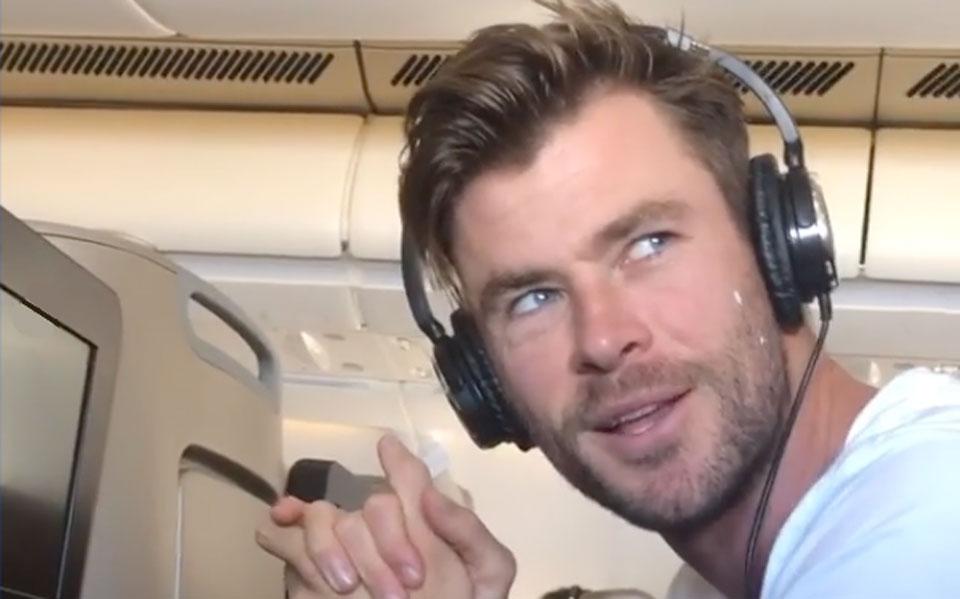 Chris Hemsworth's Bizarre Pre Flight Routine Makes Naomi Campbell's Look Normal