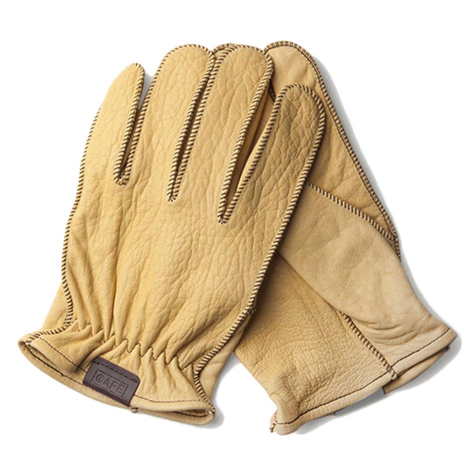 Café Leather Cream Rascal Gloves