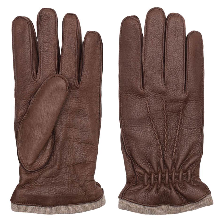 Dalgado Brown Carlo Handmade Deer Leather Gloves
