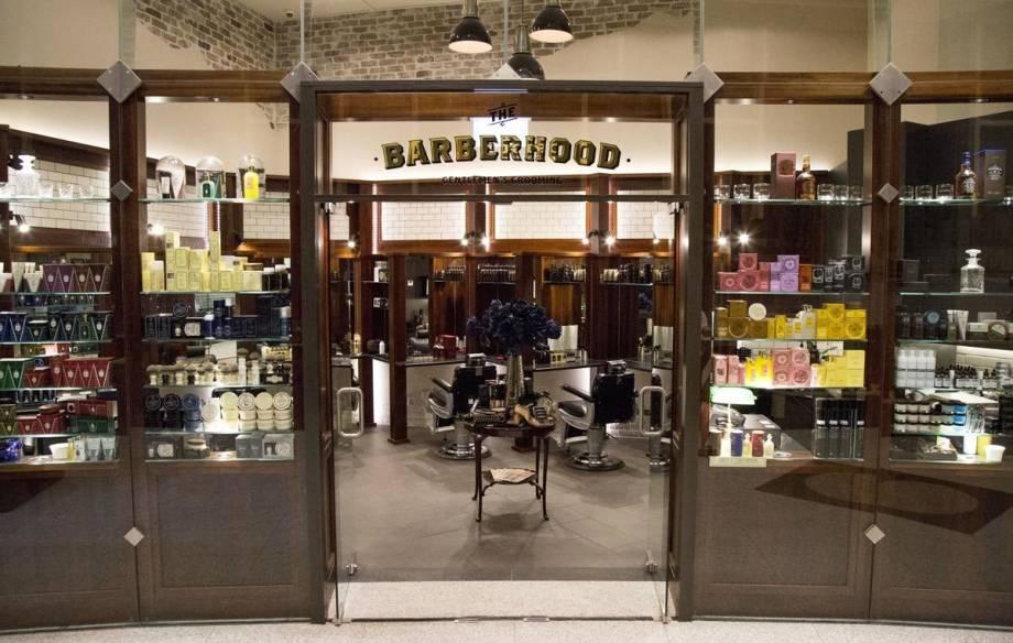 The Barberhood Wintergarden, barber shop exterior