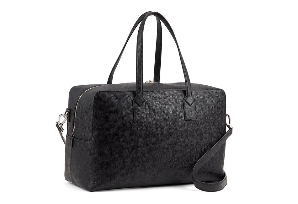 Hugo Boss Large Holdall in Embossed Italian Leather