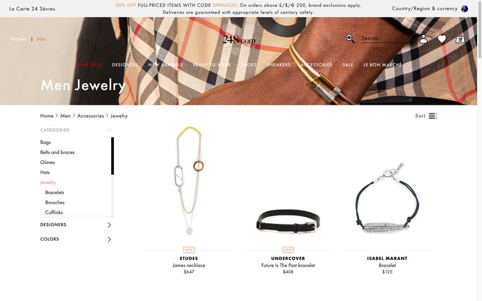 24s online jewellery store