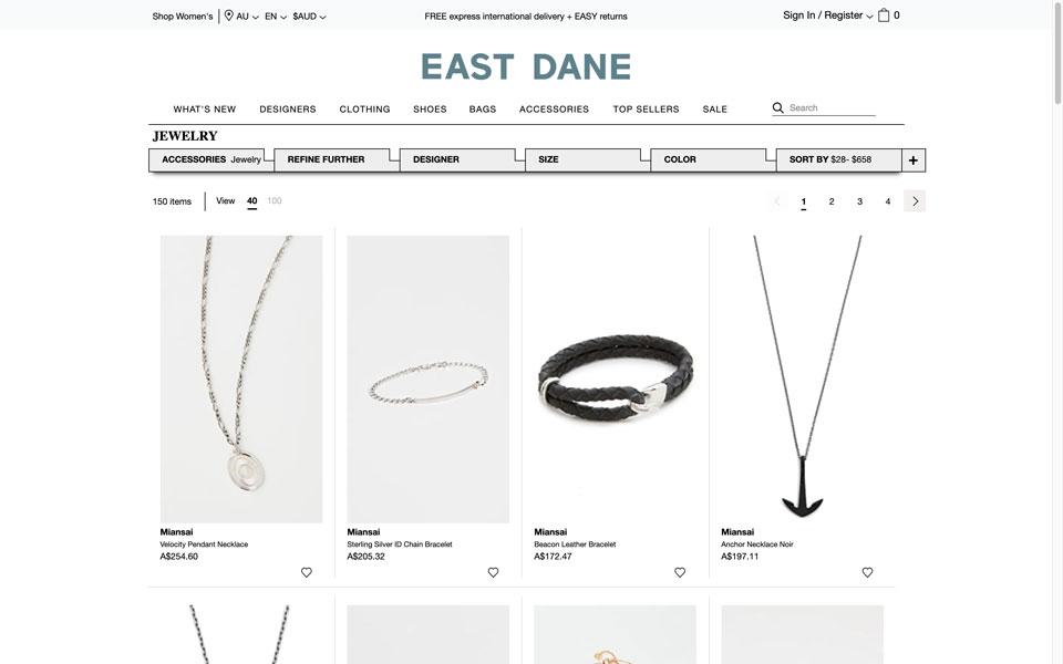 east dane online jewellery store