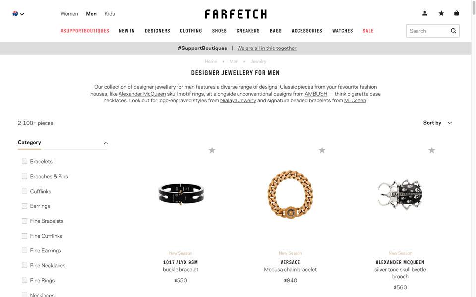 farfetch online jewellery store