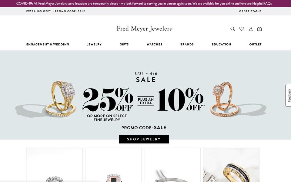 Fred Meyer Jewelers online jewellery store