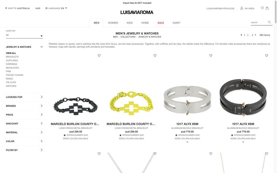 Luisaviaroma online jewellery store