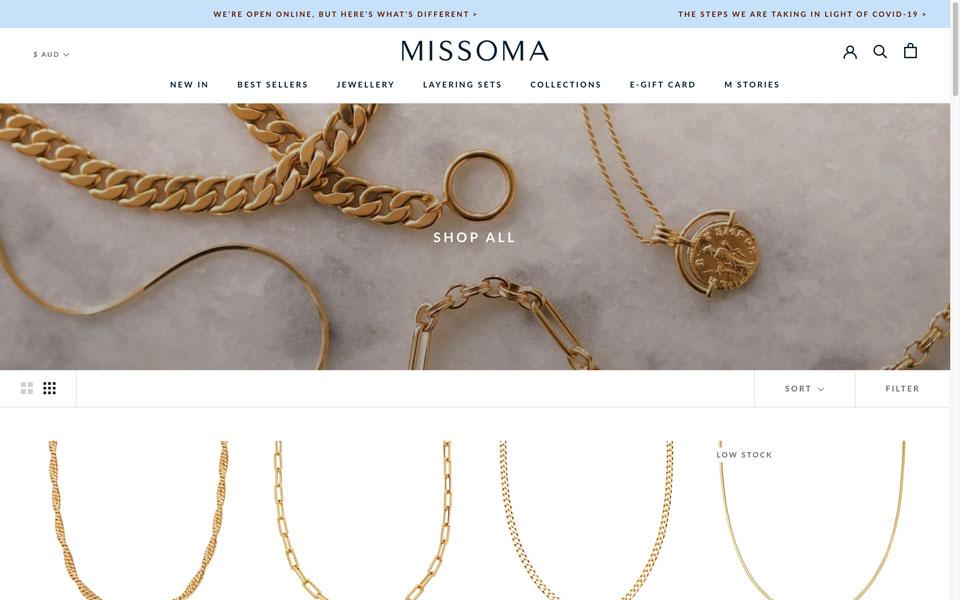 missoma online jewellery store