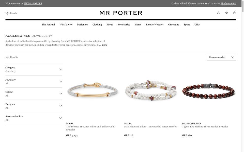 mrporter online jewellery store
