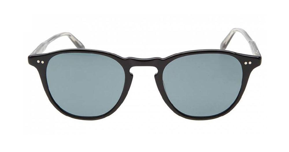 Garrett Leight Hampton Sunglasses Black Blue Smoke Polarized