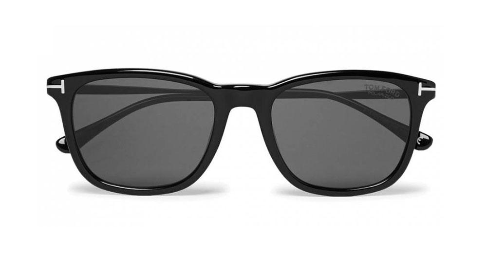 Tom Ford Square Frame Acetate Polarised Sunglasses