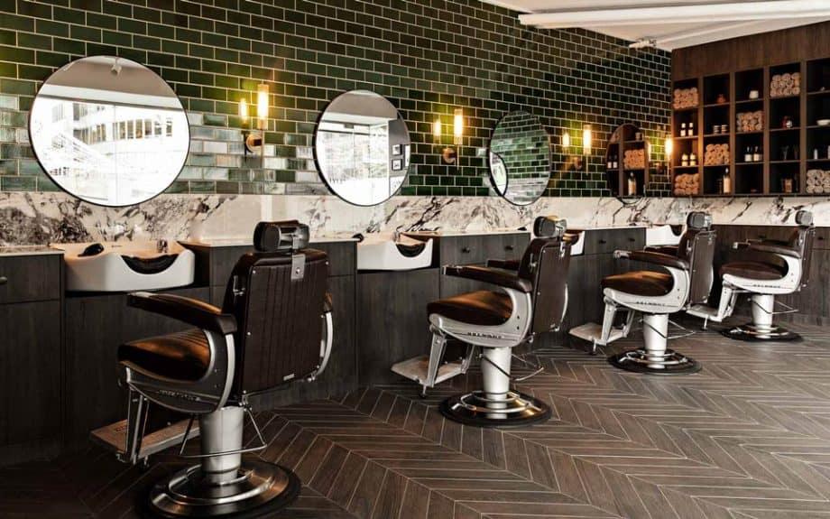 Tate & Lyle barber shop Sydney, interior