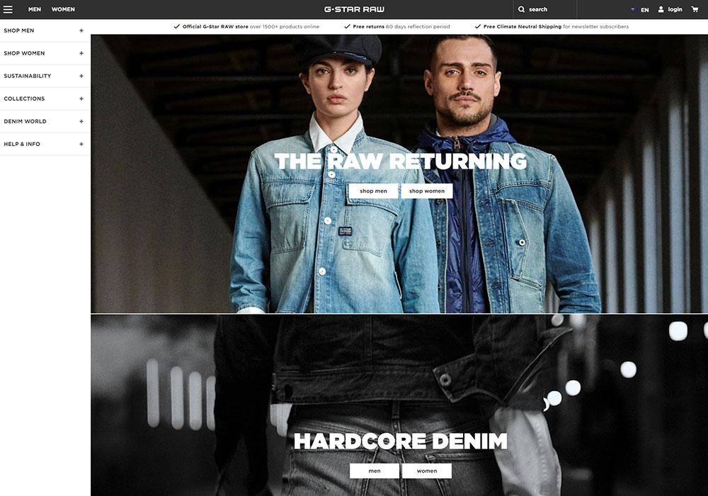 G-Star Raw Online Shop