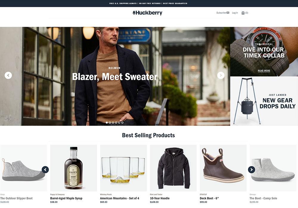 Huckberry Online Shop