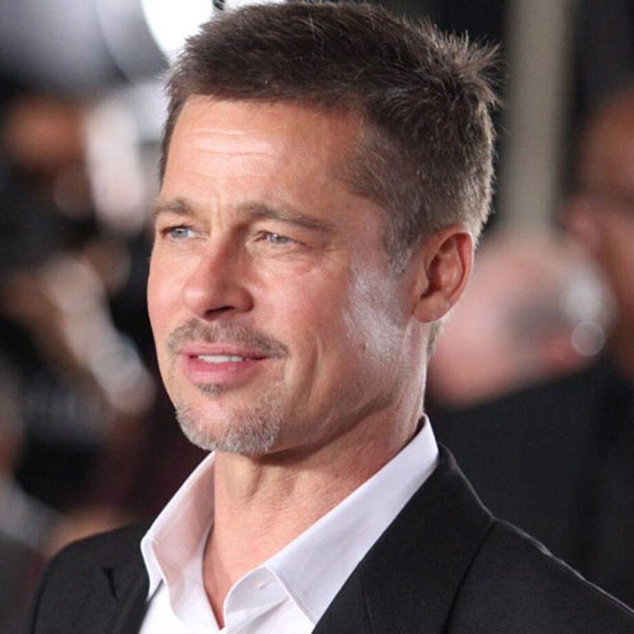 Brad Pitt with stubble style goatee beard