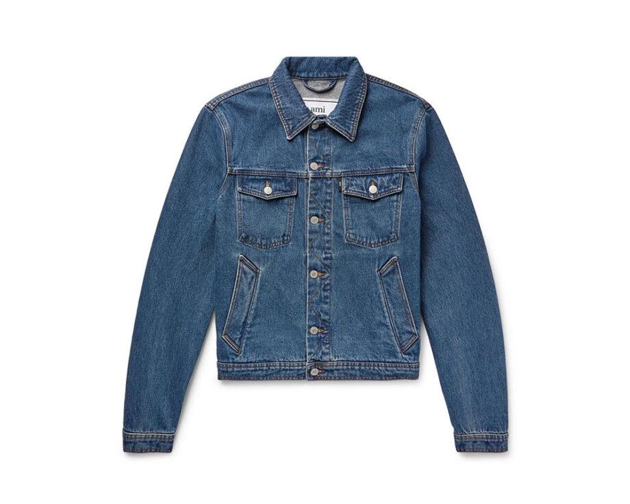 AMI Slim Fit Denim Jacket