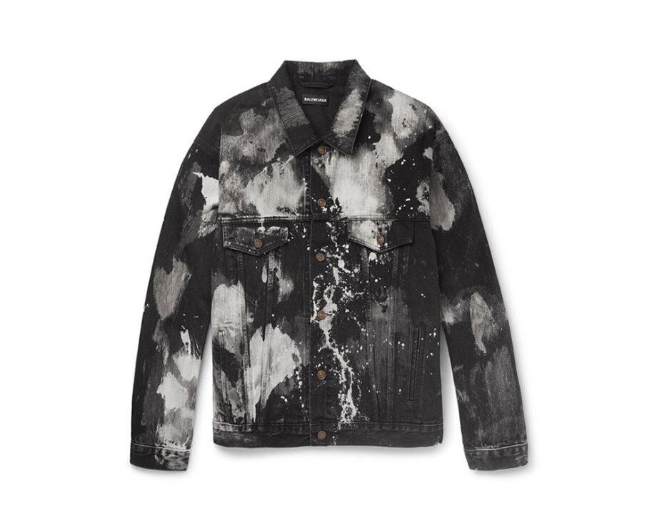 Balenciaga Oversized Bleached Denim Jacket
