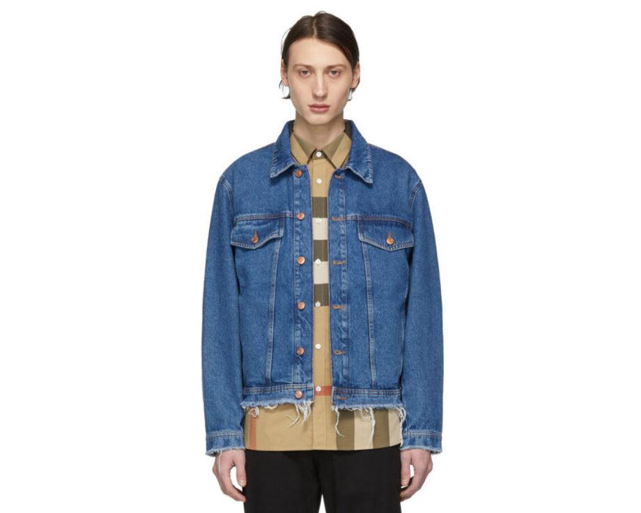 Hugo Blue Denim Raw Edge Jacket