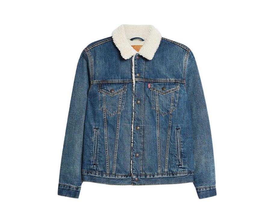 LEVI'S Blue Borg Sherpa Denim Jacket