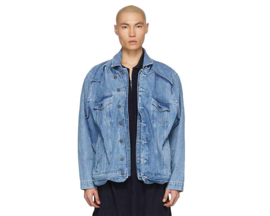 Y/Project Blue Denim Pop Up Jacket