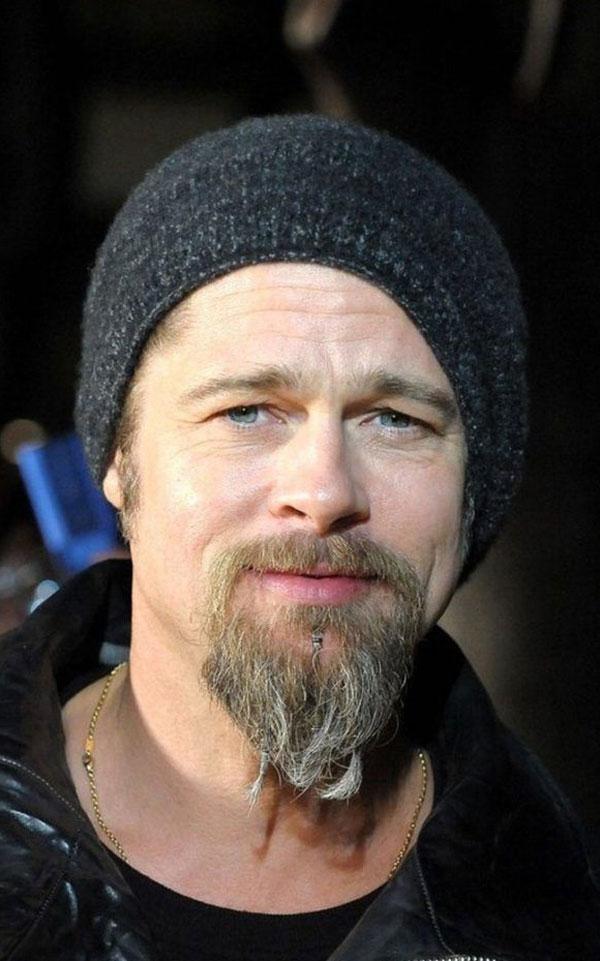 Brad Pitt with Long Goatee