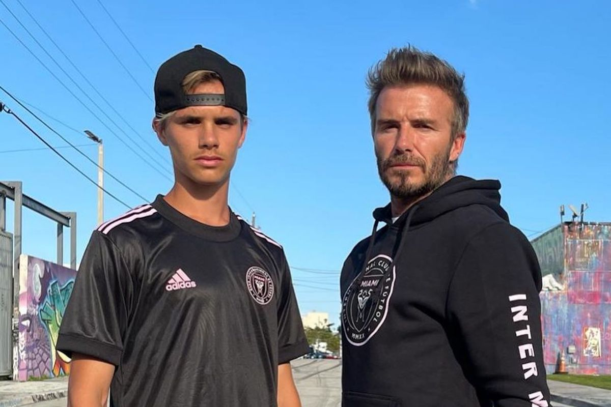 David Beckham & Son Show Off The Coolest Football Kit To Own In 2021