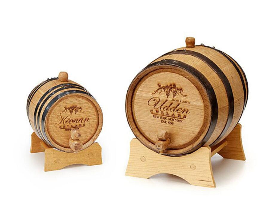 Personalised Mini Wine Barrel