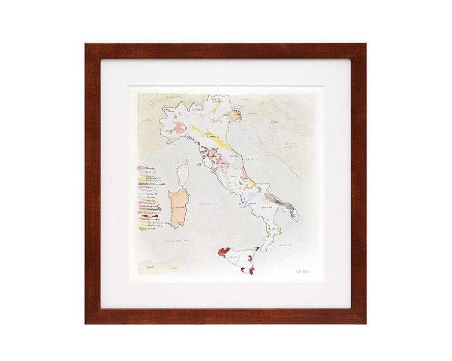 Wine Regions of Italy Artwork